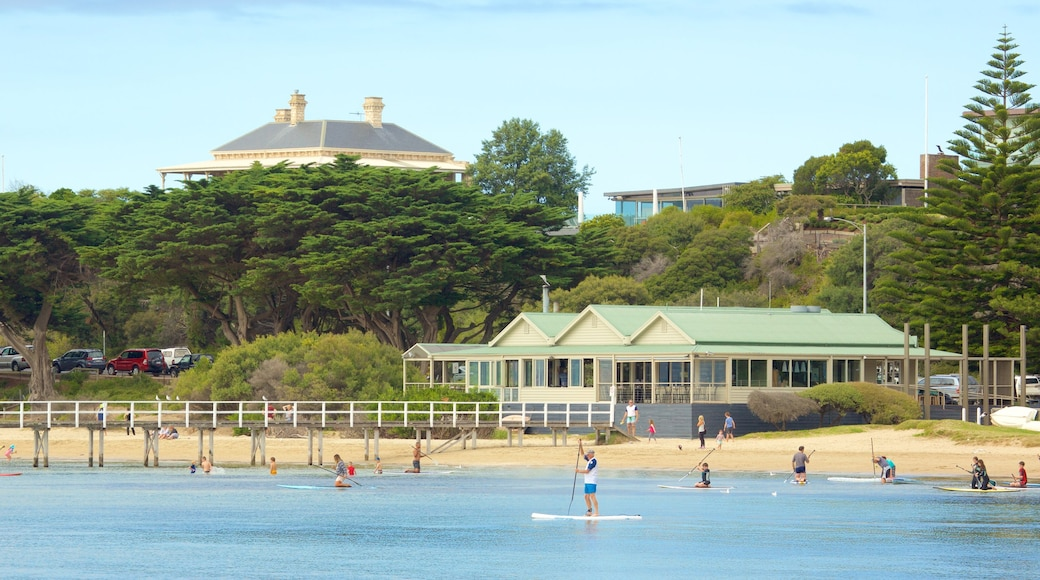 Sorrento featuring a sandy beach and water sports