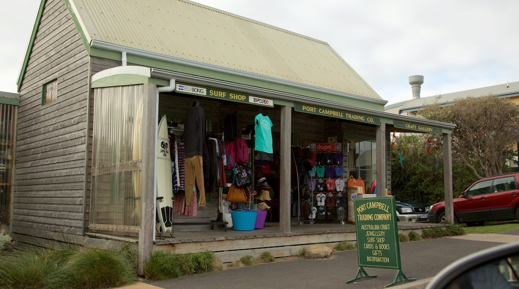 Port Campbell which includes shopping