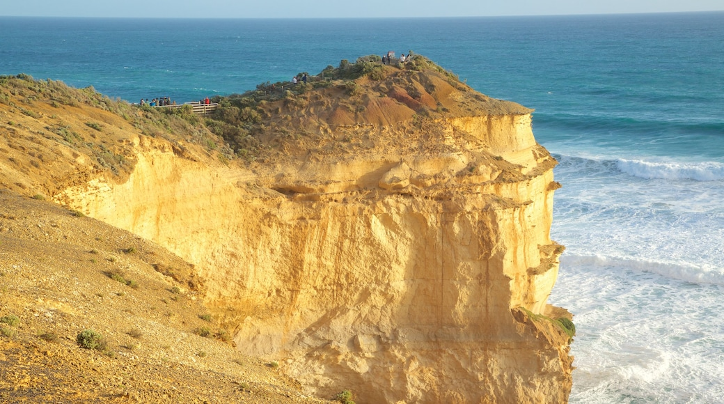 Twelve Apostles featuring a gorge or canyon and rugged coastline