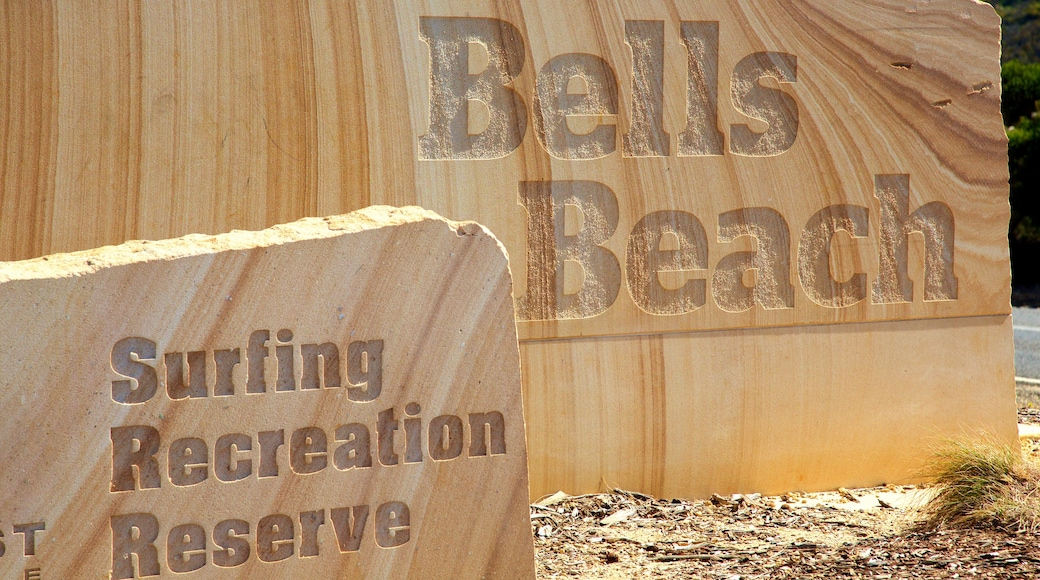 Bell\'s Beach which includes signage