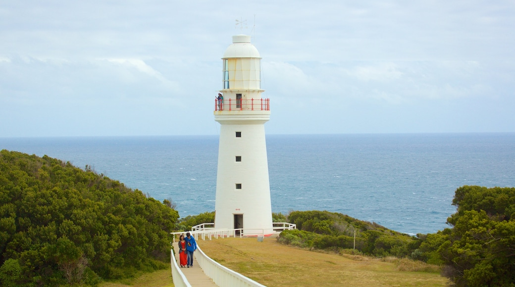 Great Ocean Road featuring general coastal views, heritage elements and a lighthouse