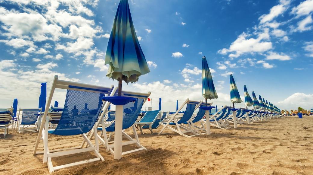 Versilia mostrando vista della costa e hotel di lusso o resort