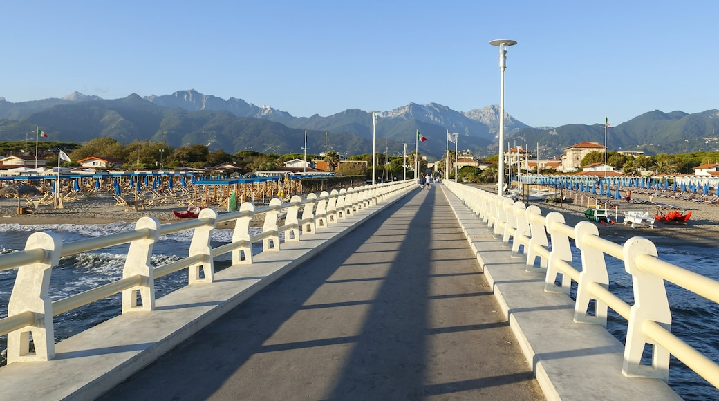 Forte dei Marmi which includes general coastal views and mountains
