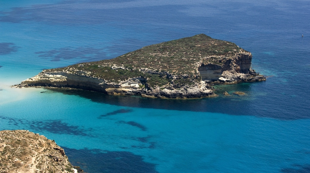 Lampedusa featuring general coastal views and island images