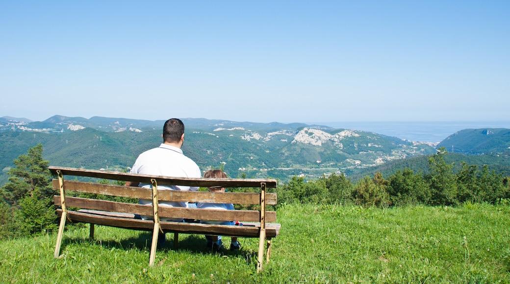 Loano mostrando montagna cosi come famiglia