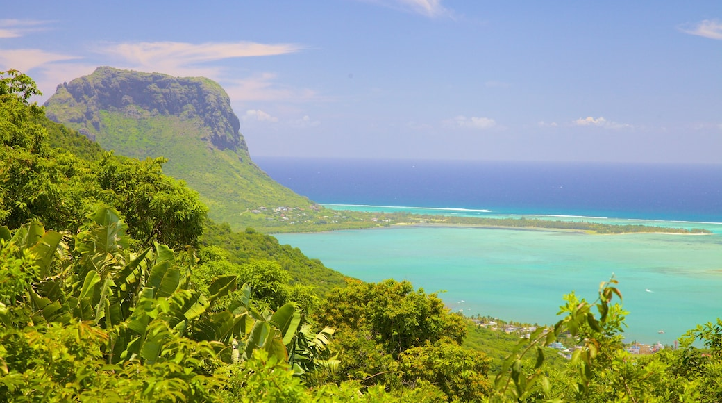 Le Morne which includes landscape views, a bay or harbour and mountains