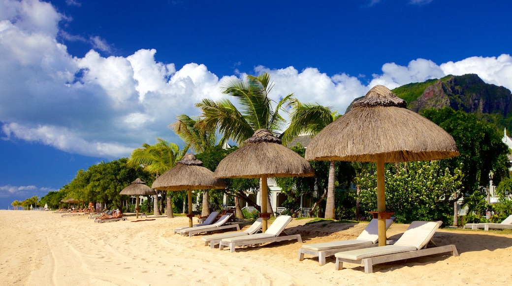 Le Morne which includes a luxury hotel or resort and a sandy beach
