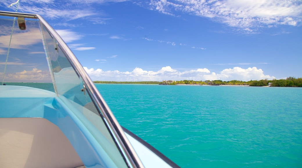 Ile aux Cerfs Beach which includes general coastal views and boating