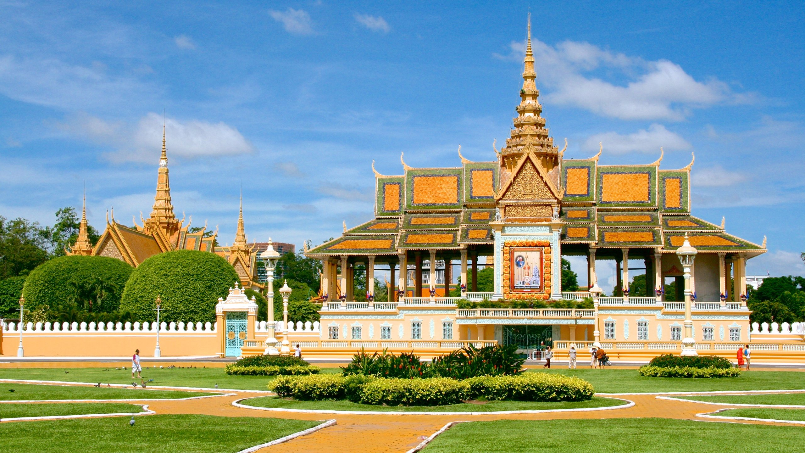 Befitting the home of Cambodia's royalty, the glittering golden roofline of this palace dominates Phnom Penh's skyline.