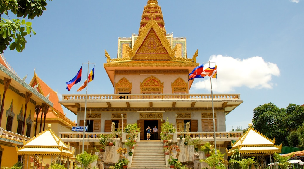 Wat Ounalom which includes heritage elements, religious elements and a temple or place of worship