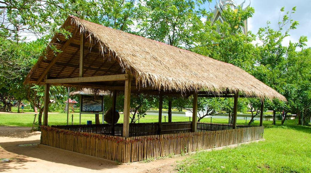 Choeung Ek Genocidal Center showing a garden