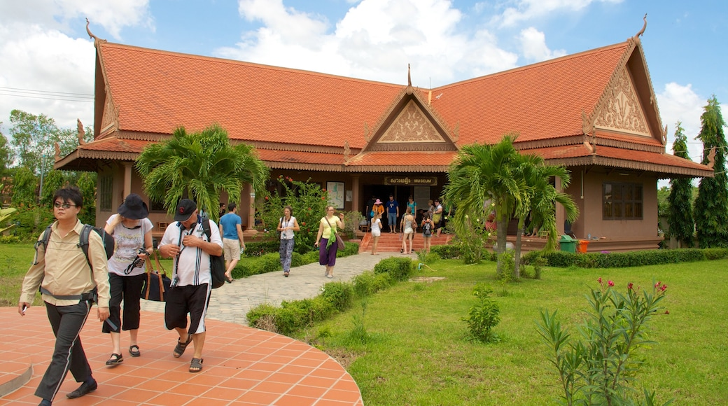 Choeung Ek Genocidal Center as well as a small group of people