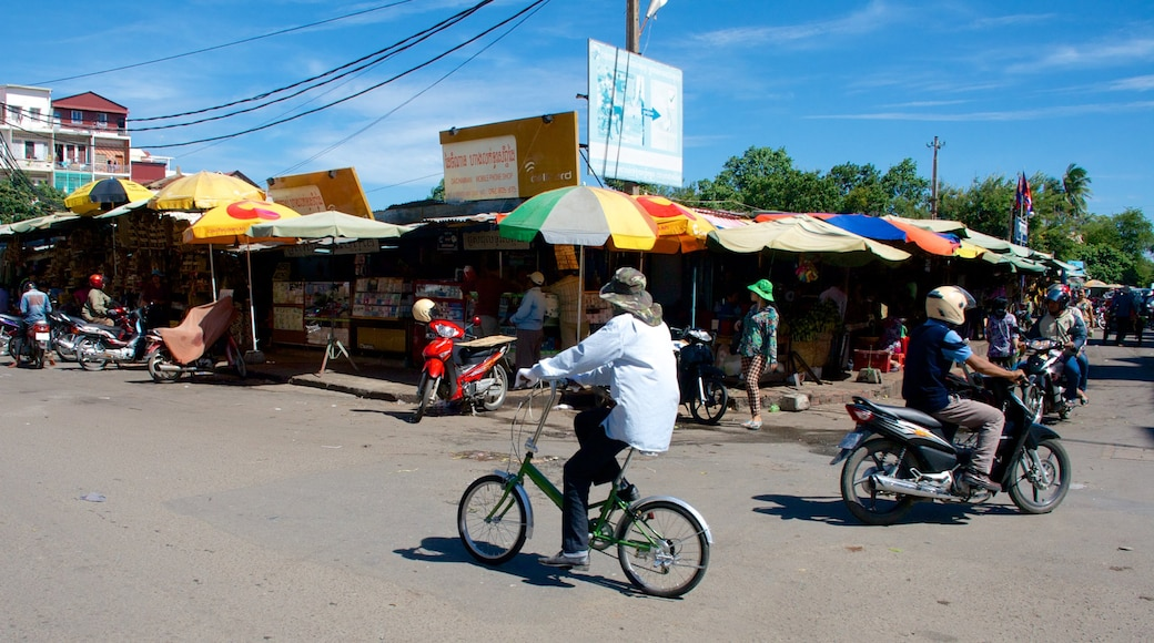 Old Market which includes cycling, street scenes and motorbike riding