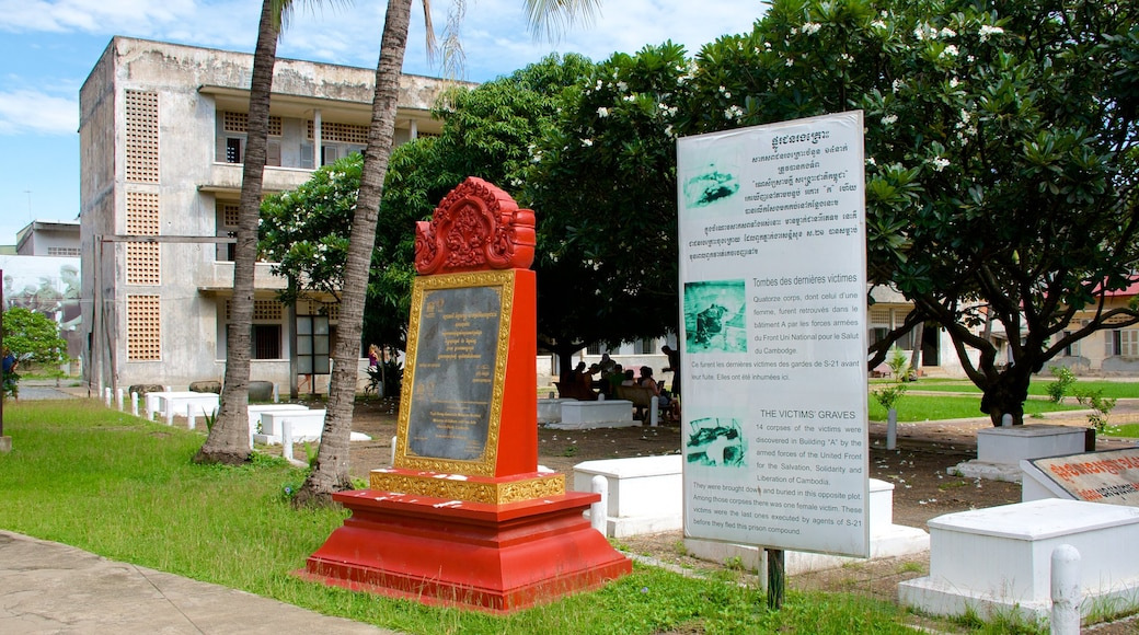Tuol Sleng Genocide Museum showing signage