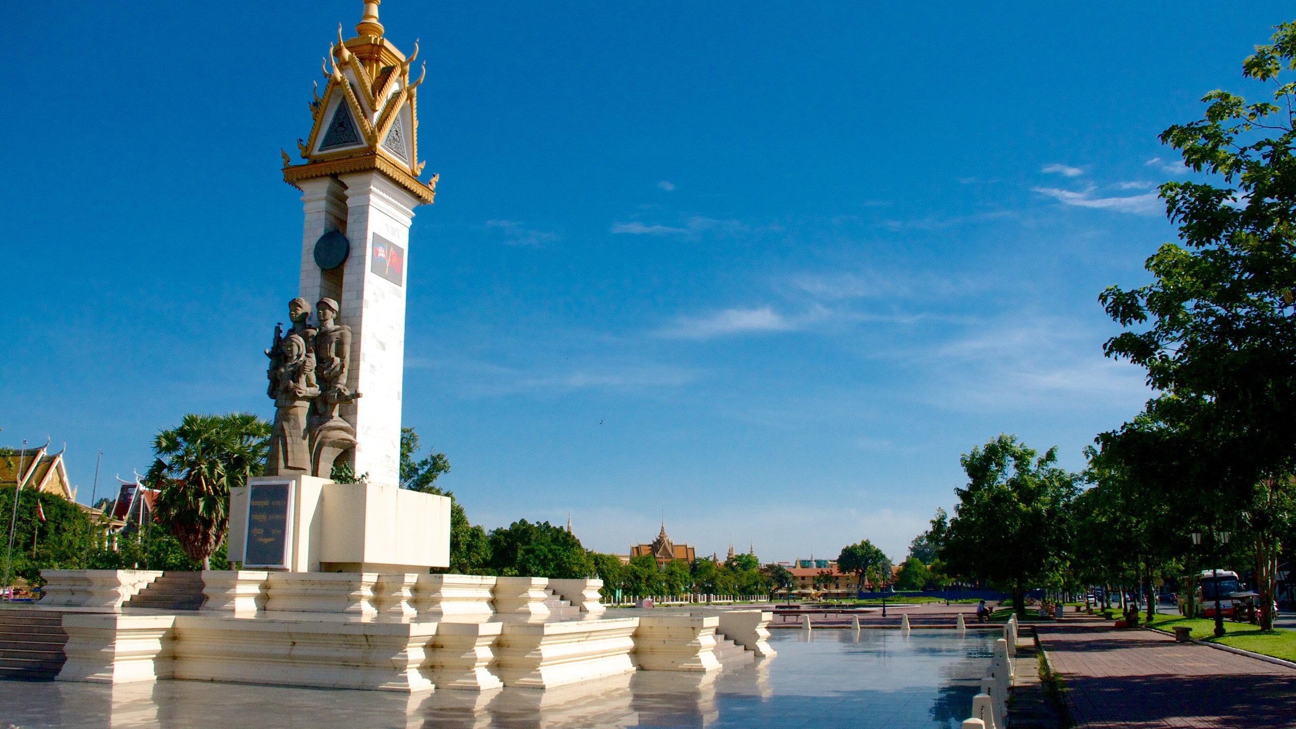 When you walk through Phnom Penh's Wat Botum Park, pause for a moment to investigate this soaring Communist monument.