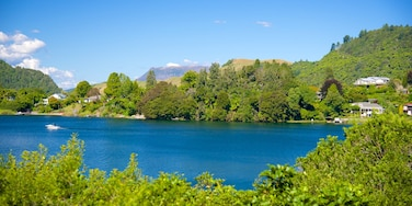 Lake Okareka showing a lake or waterhole