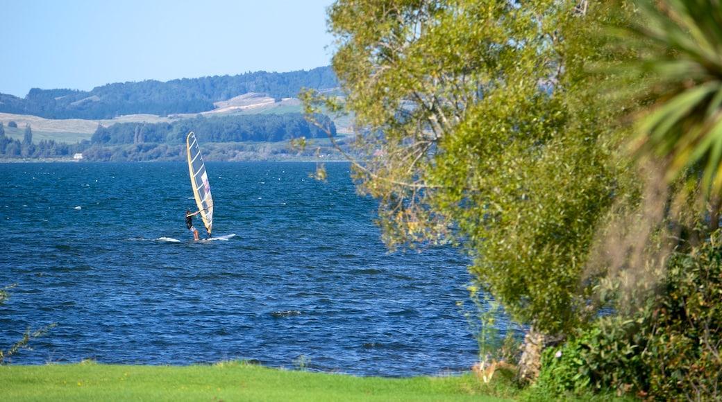 Lake Rotorua which includes windsurfing and a lake or waterhole