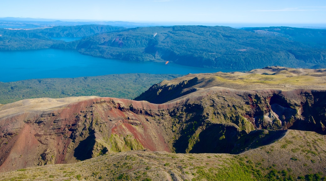 Mount Tarawera which includes landscape views and a lake or waterhole