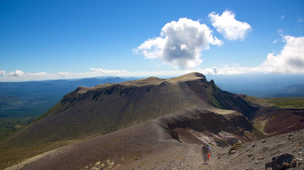 Mount Tarawera showing landscape views