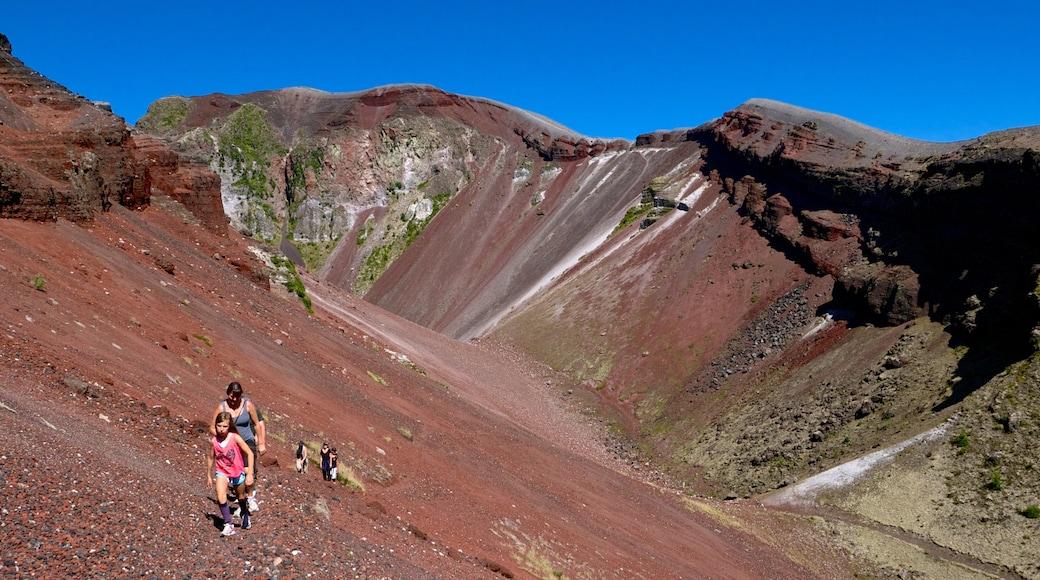 Mount Tarawera showing hiking or walking and landscape views