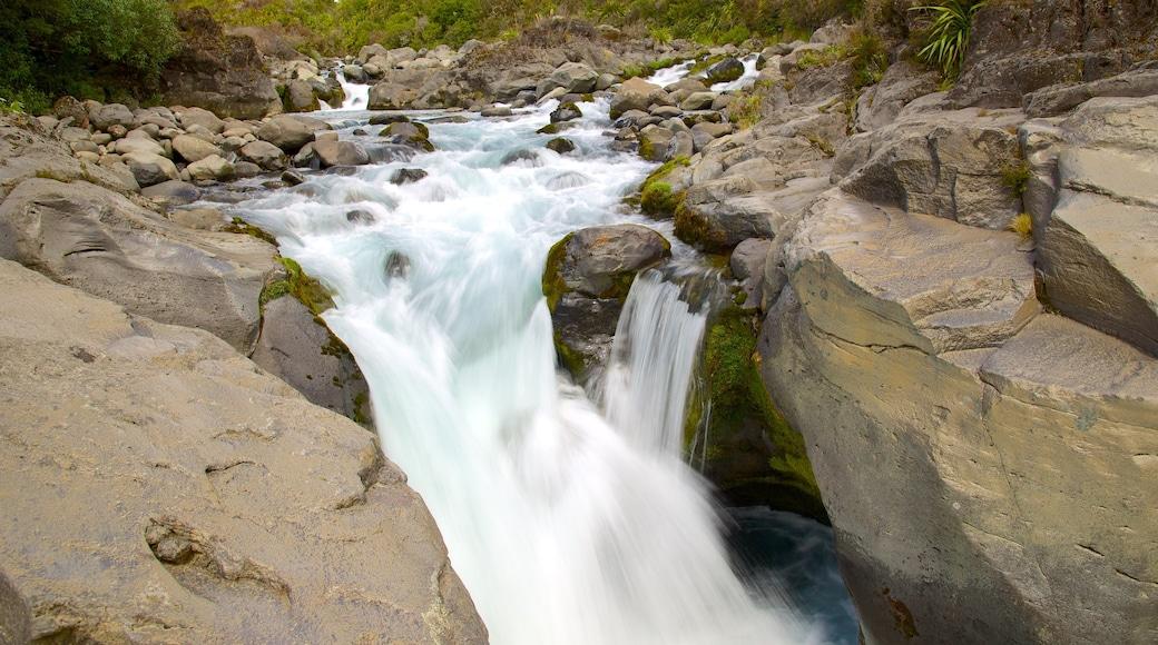 Tongariro National Park showing a river or creek