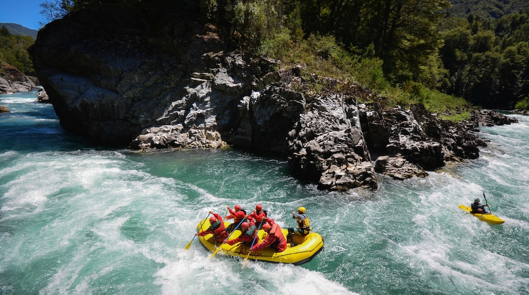 Bariloche which includes rafting and rapids as well as a small group of people