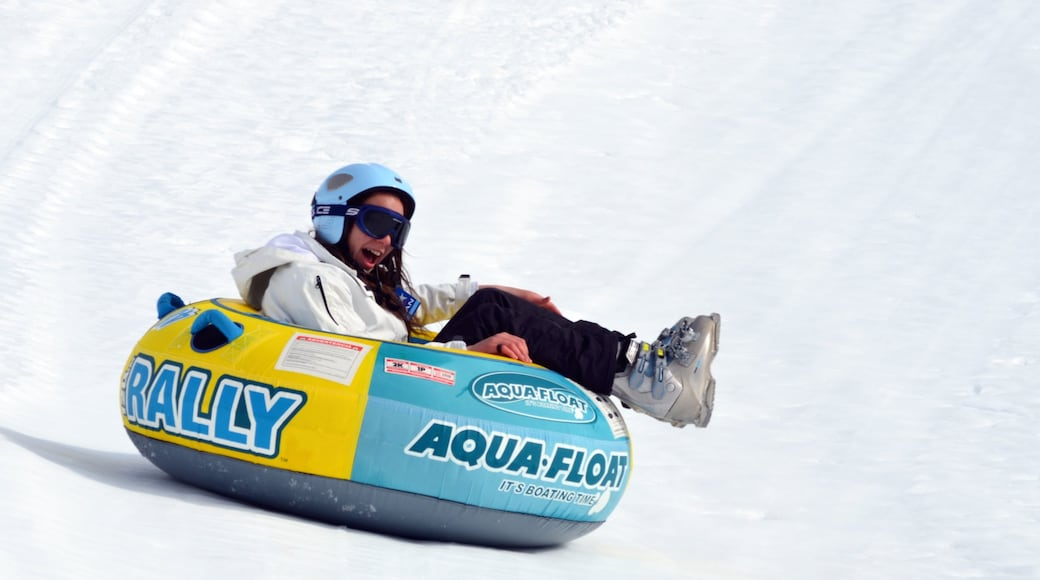 Bariloche which includes snow and snow tubing as well as an individual femail