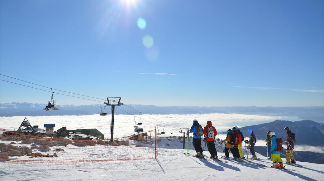 Bariloche featuring a gondola, snow and landscape views