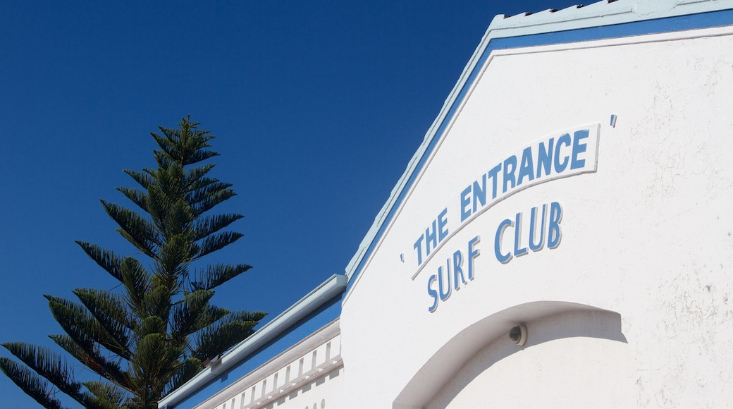 The Entrance which includes signage