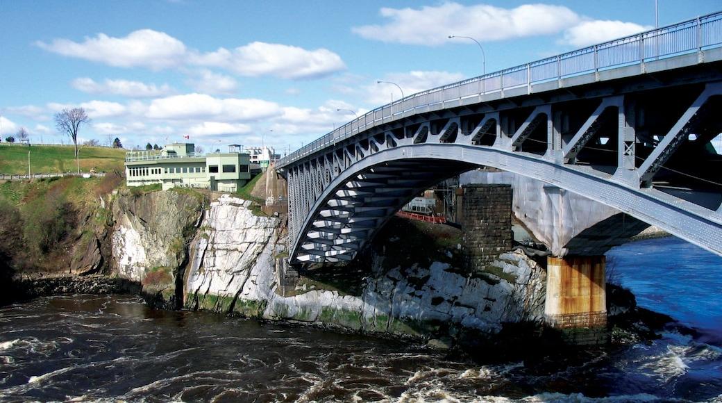 Saint John which includes a bridge and a river or creek