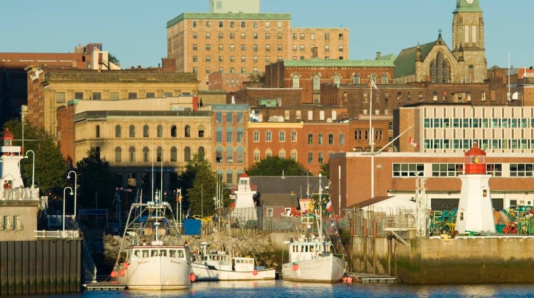 Saint John featuring a city and a marina