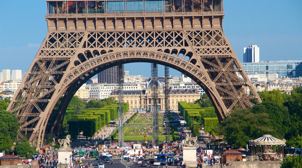 Eiffel Tower showing a city, heritage elements and heritage architecture