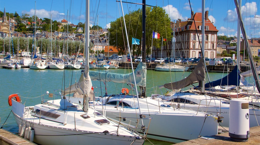 Deauville featuring a marina