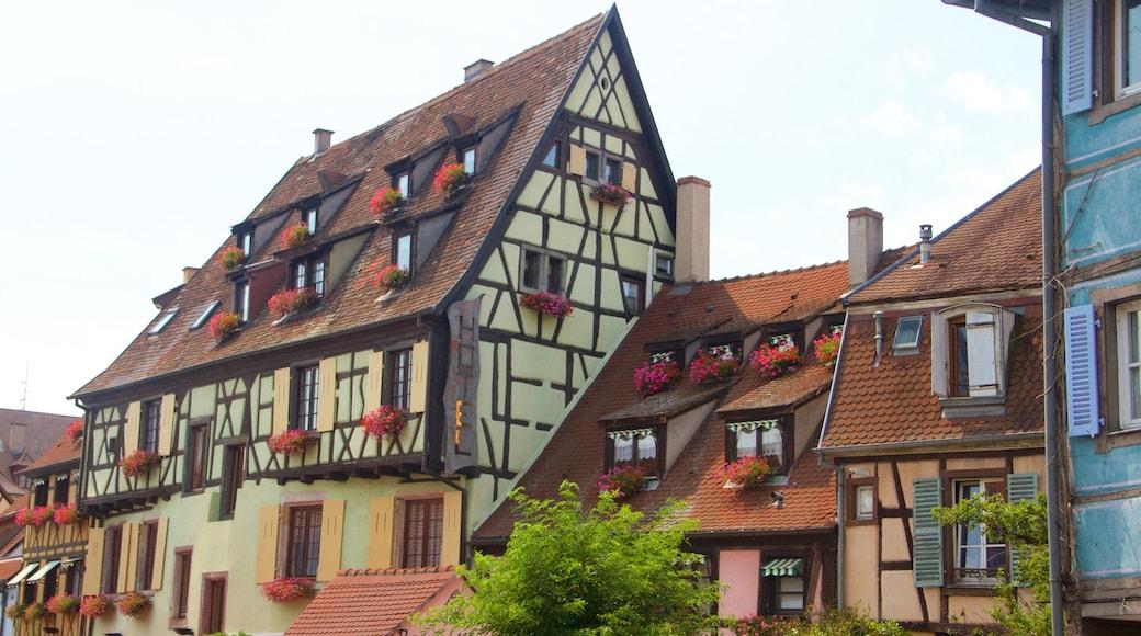 Colmar mettant en vedette patrimoine historique et ville