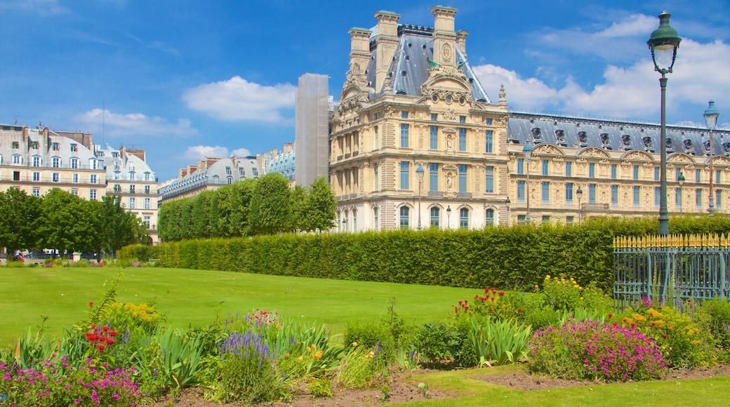 Jardin des Tuileries das einen historische Architektur, Geschichtliches und Garten