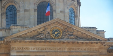 French Academy showing heritage architecture, heritage elements and signage
