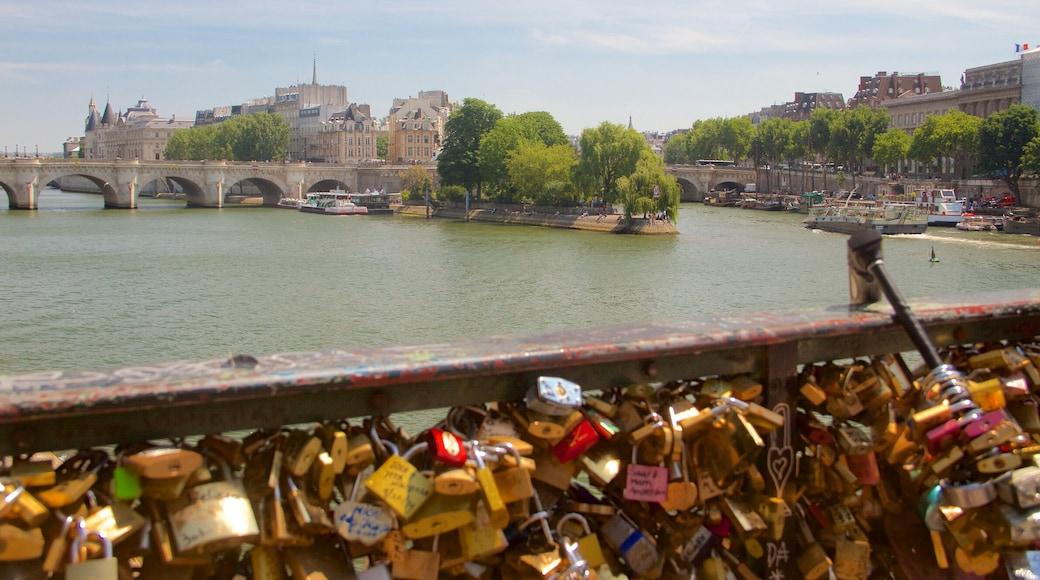 Pont des Arts 呈现出 河流或小溪, 橋樑 和 城市