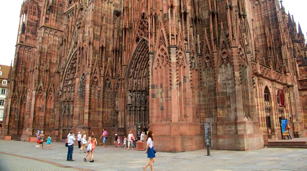 Straßburger Dom das einen Kirche oder Kathedrale, Geschichtliches und historische Architektur