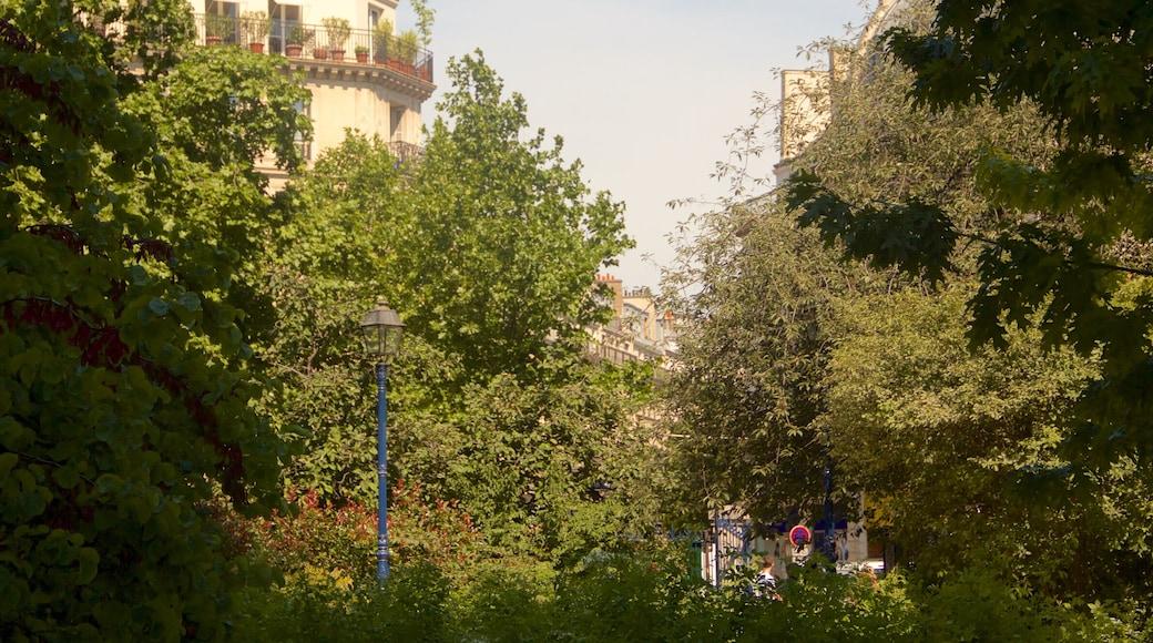 Paris featuring a park