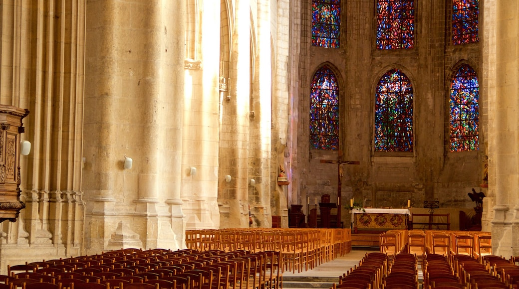 Cathédrale de Saint-Vulfran mettant en vedette église ou cathédrale, patrimoine historique et patrimoine architectural