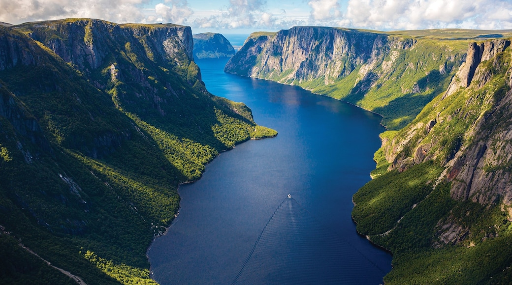 Newfoundland and Labrador which includes a gorge or canyon and a river or creek
