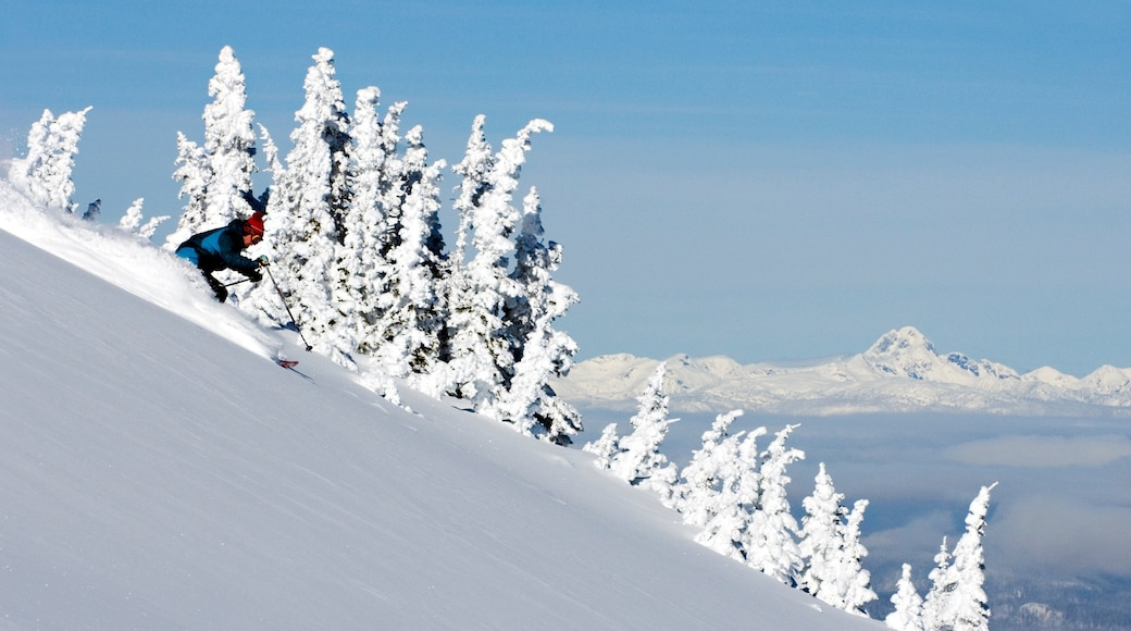 Sun Peaks showing snow skiing and snow