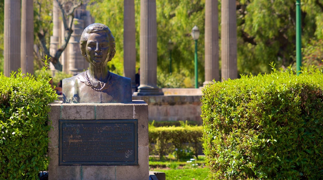Quetzaltenango Central Park which includes a statue or sculpture and a monument