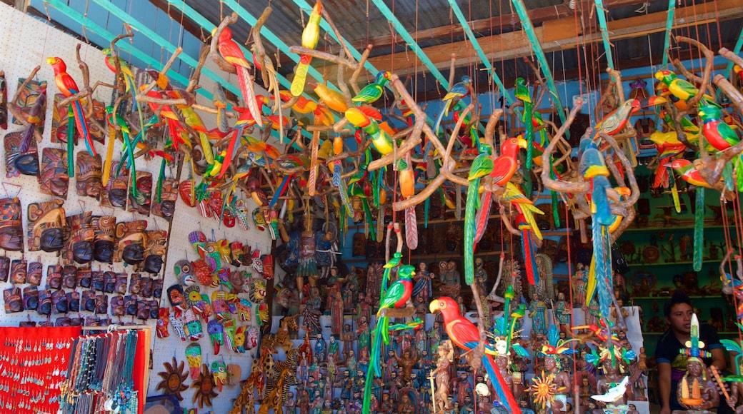 Santiago Atitlan showing markets