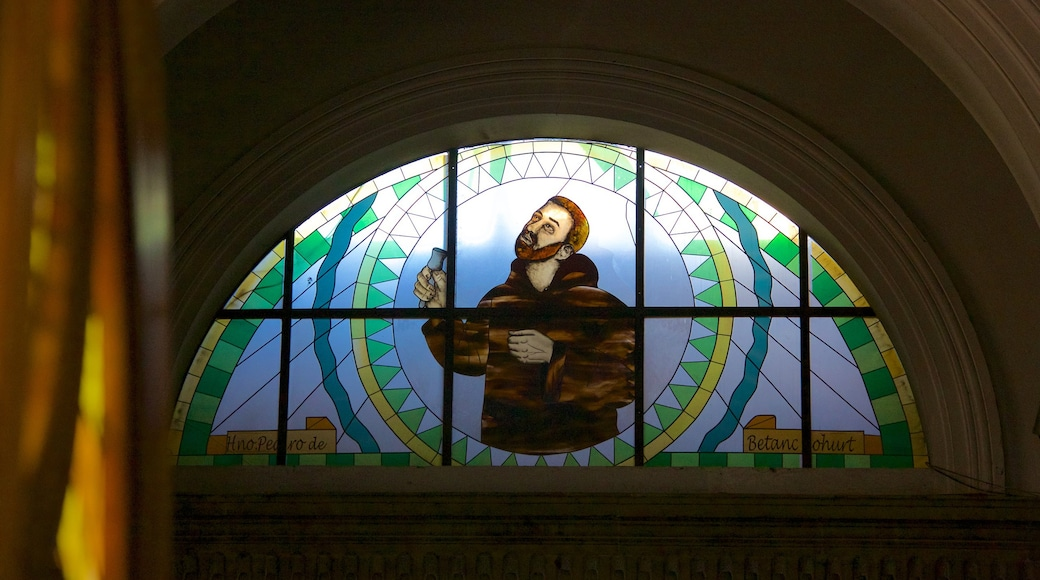 Quetzaltenango Cathedral featuring art and religious elements