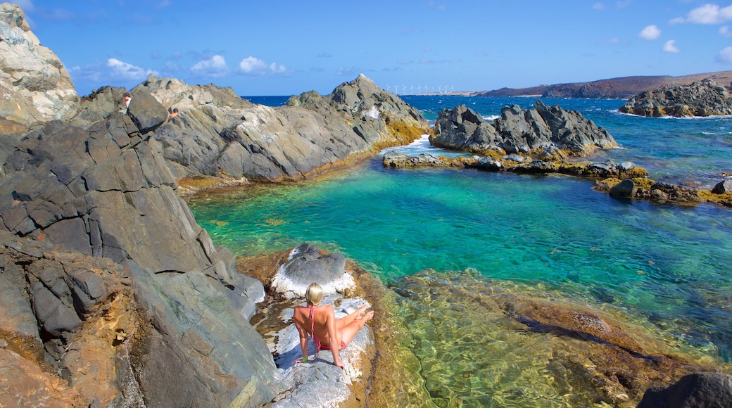 Conchi Natural Pool which includes general coastal views as well as an individual female