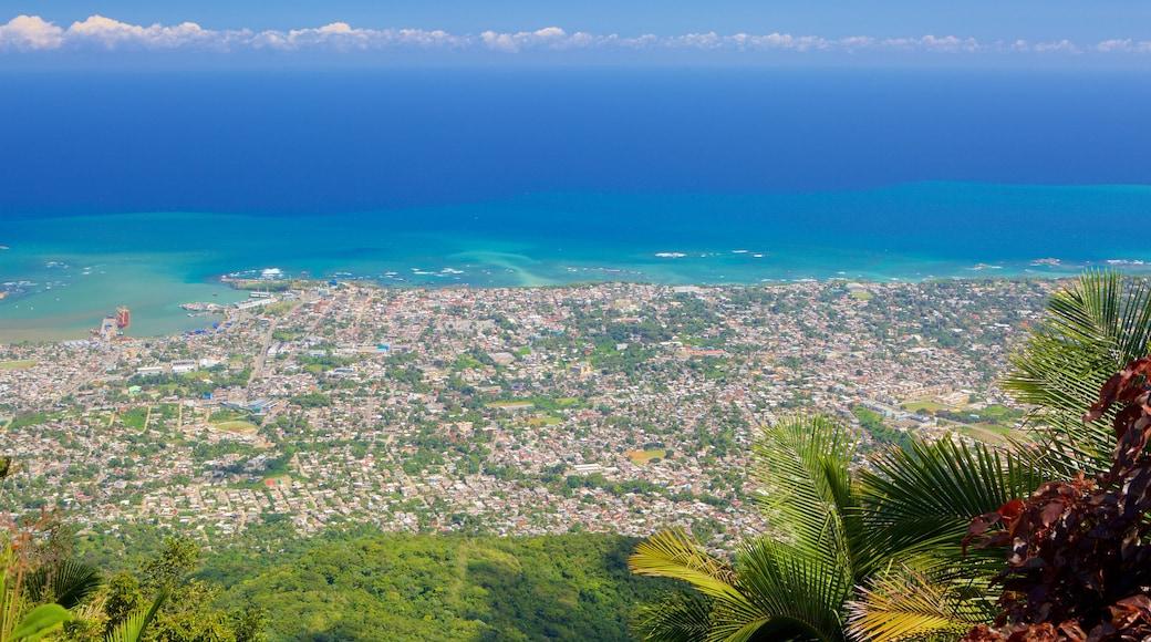 Pico Isabel de Torres featuring a city and general coastal views