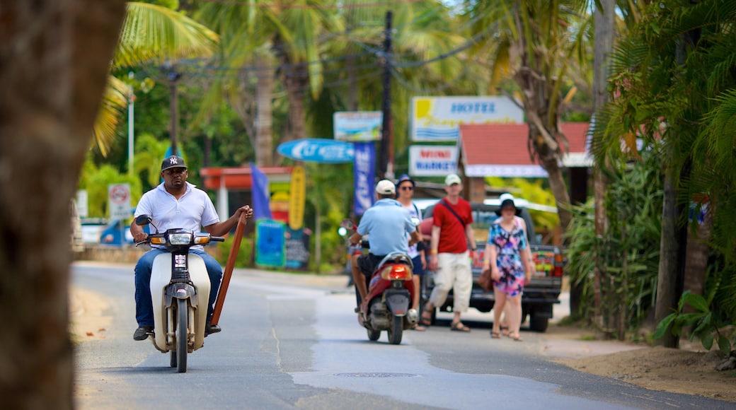 Las Terrenas which includes motorbike riding
