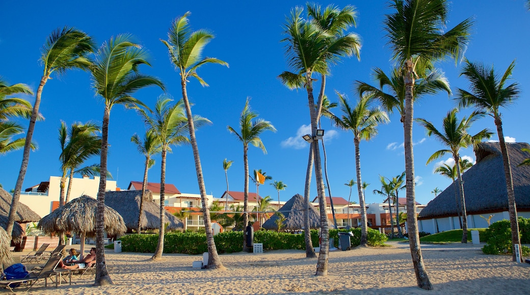 Uvero Alto which includes tropical scenes and a sandy beach
