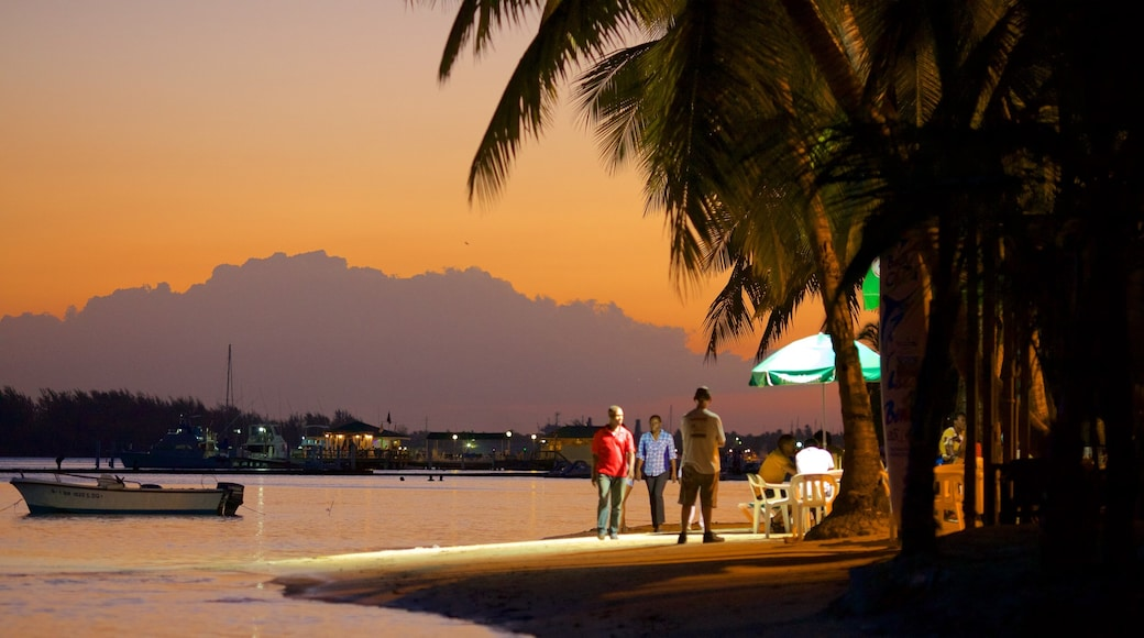 Dominican Republic which includes a sunset and general coastal views